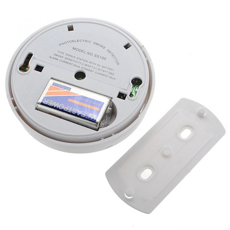 Photoelectric Smoke Detector with battery