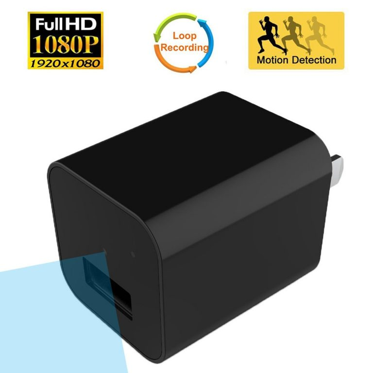 usb wall charger hidden spy camera