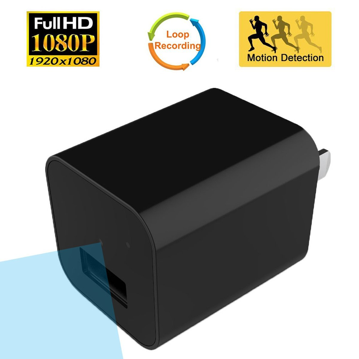 usb wall charger hidden spy camera