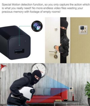 usb wall charger spy camera - 1