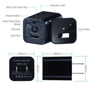 usb wall charger spy camera - specs