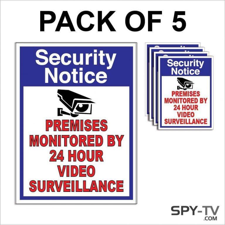 CCTV Video Surveillance Stickers