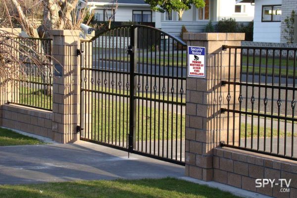 gated house security camera stickers