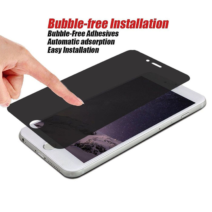 iphone 8 privacy glass bubble free